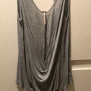 Free people low scowl neck tank Size S